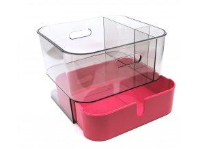 15317 kosmeticky organizer 21x24 cm kvalitni plast