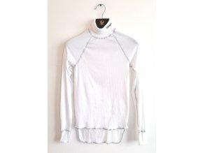 Pánské funkční triko, dlouhý rukáv, rolák, bílé- CRAFT (Velikost XS)