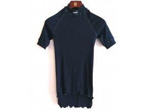 Pánské funkční tričko, krátký rukáv, stojáček- tmavě modrá (Velikost S)