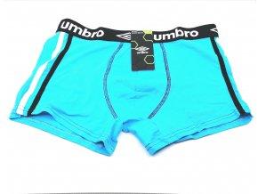 Pánské boxerky UMBRO 1ks - modrá (Velikost XXL)