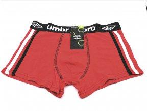 Pánské boxerky UMBRO 1ks - červené (Velikost XXL)