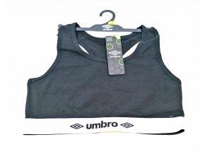 Sportovní podprsenka UMBRO, nevyztužená, černá
