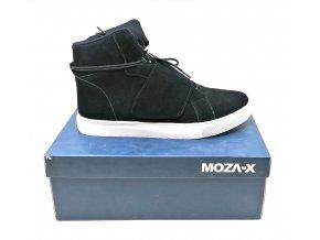 Pánská kotníková obuv semišová- černá, MOZA-X