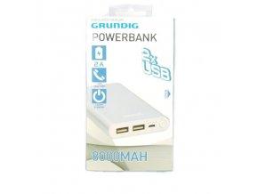 POWERBANK GRUNDIG 8000mah 2xUSB 5V 2A alu SREBRNY Kod producenta 8711292115595