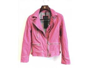 Kožená bunda OAKWOOD- růžová
