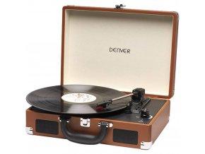 Gramofon+Denver+VPL 118,+řemínkový+pohon,+hnědá