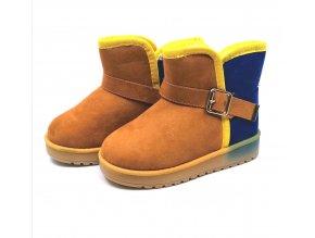 Dětské zimní boty yellow