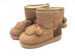 Dětské boty zimní khaki