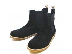 Pánské semišové kotníkové boty Sixth June, černé