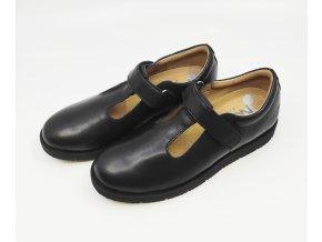 Dívčí kožené boty Noel černé