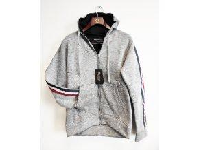 Pánská zateplená sportovní mikina na zip Courage Clothing, šedá