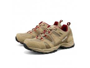 Dětské multifunkční boty Clorts béžovo-červené