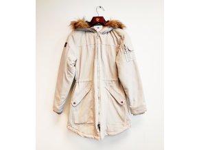 Dámský zimní kabát s kapucí Barfota šedý