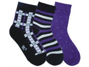 Dětské bavlněné ponožky 3 páry