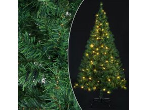 Umělý vánoční stromeček vč. LED osvětlení 210 cm   zelený