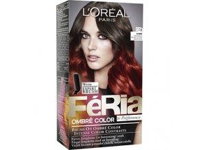 Barva na vlasy LORÉAL, Ombre červená, zrzavá