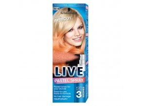 live pastelni sprej za kosu pastelna kajsija 401