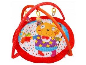 babymix 18 hraci deka s hrazdou meda s hvezdami ilu