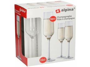 alpina champagneglazen 22 cl glas 23 cm transparant 6 delig 5 398967 1589469087