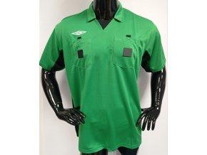 Pánské/ chlapecké funkční rozhodčí triko s límečkem krátký rukáv Umbro, zelené
