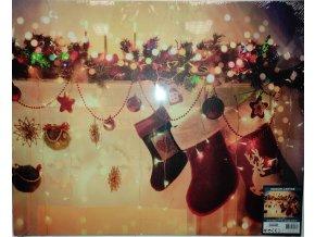 LED svítící dekorační obraz, vánoční motiv, 2xAA