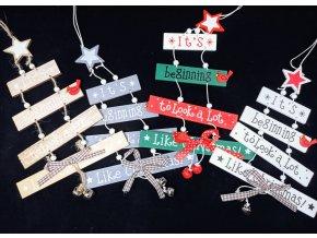 Vánoční dekorace - dřevěný Vánoční stromeček