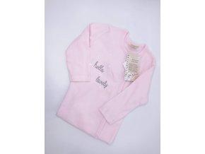 Dívčí dupačky z organické bavlny, růžové
