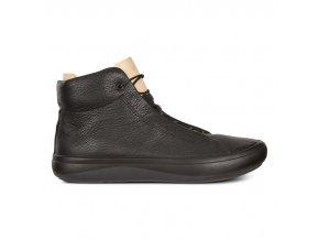 Pánské kožené kotníkové boty Ecco černé