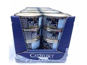 CAT SELECT konzerva pro kočky tuňák s kalamáry 32x 80g