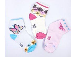 Dívčí barevné ponožky 3 páry