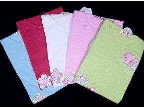 Dívčí tričko s kytičkami, více barev
