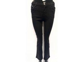 Dívčí bavlněné kalhoty černé