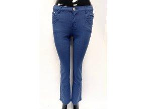 Dívčí bavlněné kalhoty modré
