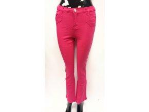 Dívčí bavlněné kalhoty růžové