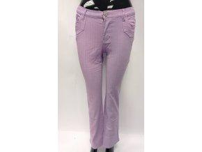 Dívčí bavlněné kalhoty světle fialové