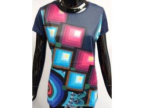 Dámské tričko Benter s barevnými motivy