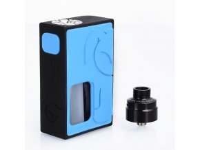 s rabbit style squonk mechanical box mod solo style rda kit blue black 8ml 1 x 18650 22mm diameter