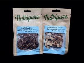 Nutripure - Trhané maso pro kočky 50g různé druhy