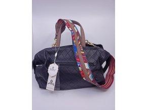 Dámská kabelka Gussaci s barevným popruhem