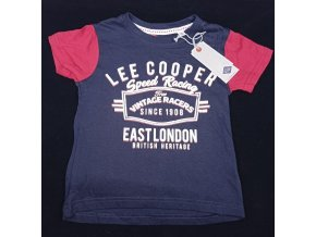 Chlapecké tričko LEE COOPER- speed racing, modré
