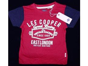 Chlapecké tričko LEE COOPER- speed racing, červené