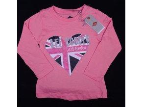 Dívčí tričko s dlouhým rukávem, LEE COOPER- East London, růžové