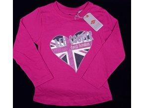 Dívčí tričko s dlouhým rukáve, LEE COOPER- East London, tmavě růžové
