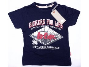 Chlapecké tričko LEE COOPER- Bickers for Life, tmavě modrá