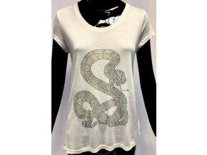 Dámské lehké triko Brave Soul, bílé s hadem