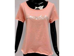 Dámské bavlněné triko Lonsdale, růžové