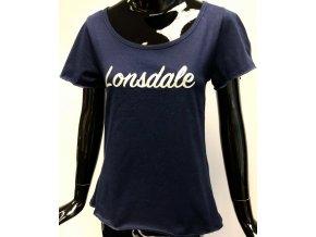 Dámské bavlněné triko Lonsdale, modré