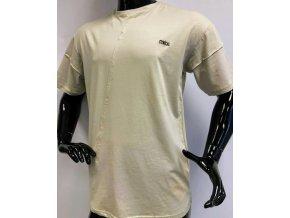 Pánské dlouhé bavlněné triko Cynical, béžové