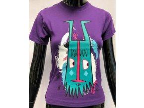 Dětské bavlněné triko ATZ s krátkým rukávem fialové