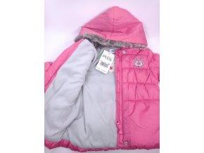 Dívčí prošívaný kabátek Pepits, růžový vel. 6 měsíců